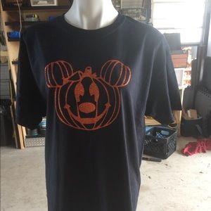 Disney Halloween Mickey Mouse Pumpkin Shirt